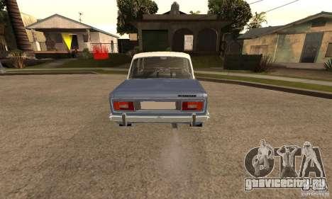 ВАЗ 2106 Old v2.0 для GTA San Andreas вид сзади
