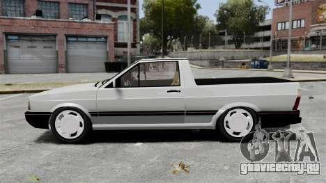 Volkswagen Saveiro 1990 Turbo для GTA 4 вид слева