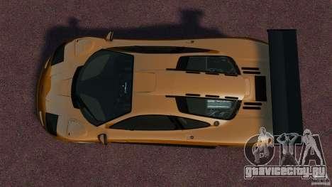 McLaren F1 для GTA 4 вид справа
