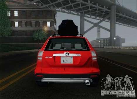 Honda CRV 2011 для GTA San Andreas вид снизу