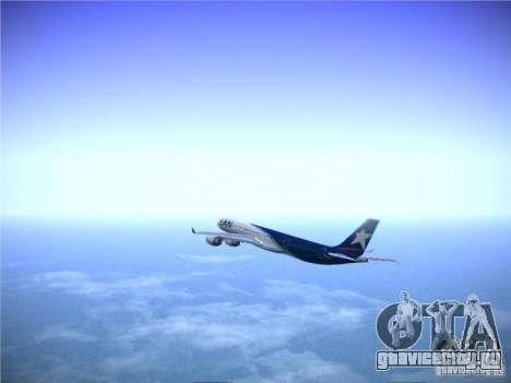 Airbus A340-600 LAN Airlines для GTA San Andreas вид изнутри