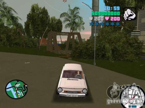 ЗАЗ 968 для GTA Vice City вид справа