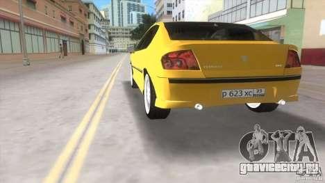 Peugeot 407 для GTA Vice City вид сзади слева