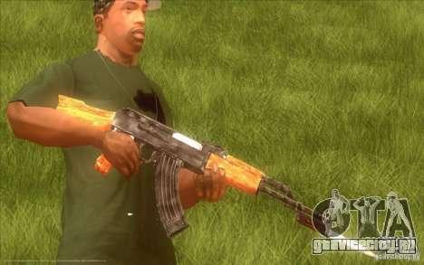 Автомат Калашникова HD для GTA San Andreas