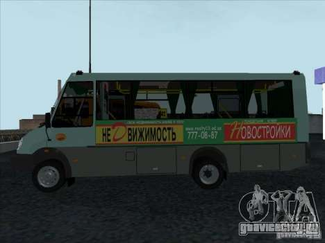 ГолАЗ 3207 для GTA San Andreas вид сзади слева