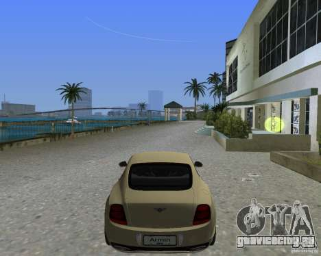 Bentley Continental SS для GTA Vice City вид слева