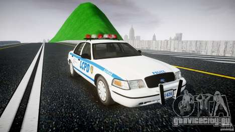 Ford Crown Victoria Police Department 2008 LCPD для GTA 4 вид справа
