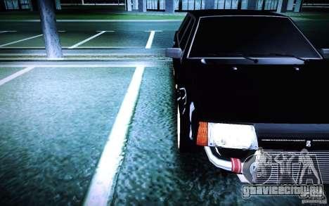 ВАЗ 21099 Turbo для GTA San Andreas вид сзади