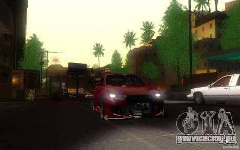 Mitsubishi Lancer EVO X drift Tune для GTA San Andreas вид сзади