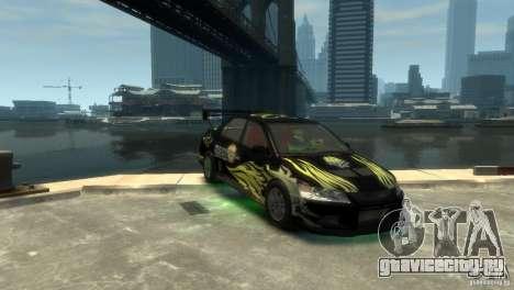 Mitsubishi EVO IX для GTA 4 вид слева