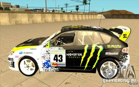 Новые винилы к Subaru Impreza WRX STi для GTA San Andreas вид сзади слева