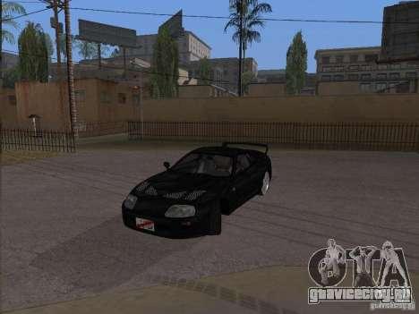 Toyota Supra MKIV для GTA San Andreas вид сзади слева