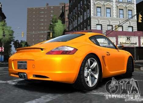 Porsche Cayman S1 для GTA 4 вид сзади слева