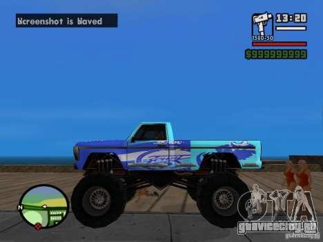 Monster A в стиле ФК ЗЕНИТ для GTA San Andreas вид слева