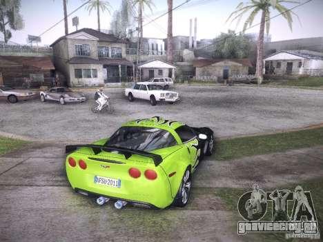 Chevrolet Corvette C6 Z06 Tuning для GTA San Andreas вид снизу