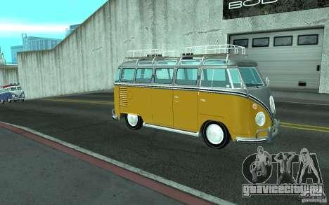 Volkswagen Transporter T1 SAMBAQ CAMPERVAN для GTA San Andreas вид слева