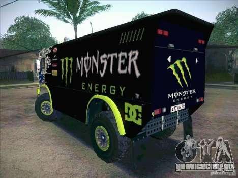 КамАЗ 4911 Мастер Monster Energy для GTA San Andreas вид слева