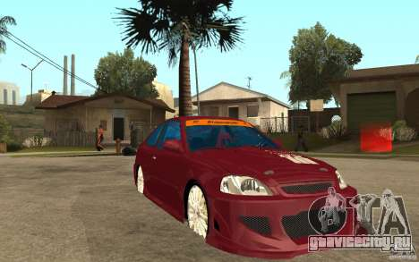 Honda Civic 1998 Tuned для GTA San Andreas вид сзади