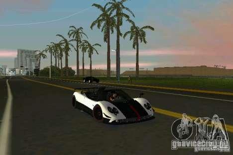 Pagani Zonda Cinque Roadster 2010 для GTA Vice City вид сзади слева