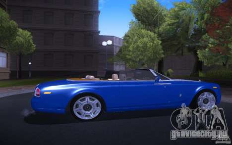 Rolls-Royce Phantom Drophead Coupe для GTA San Andreas вид справа