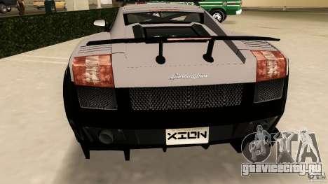 Lamborghini Gallardo Police для GTA Vice City вид сзади