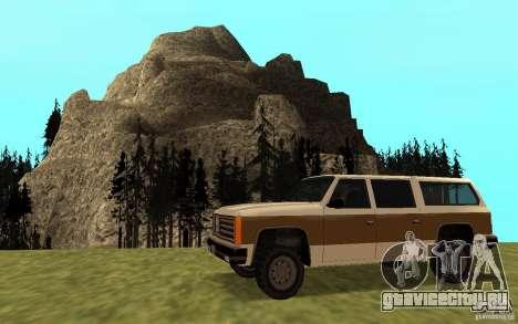 Гражданский FBI Rancher для GTA San Andreas вид слева