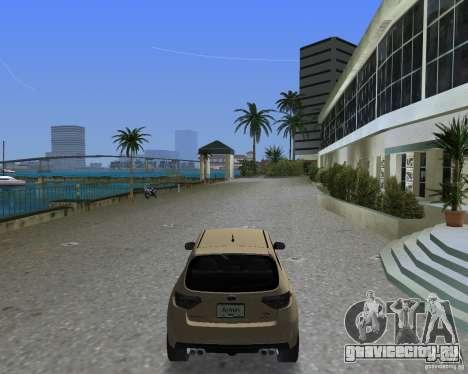 Subaru Impreza WRX STI для GTA Vice City вид слева