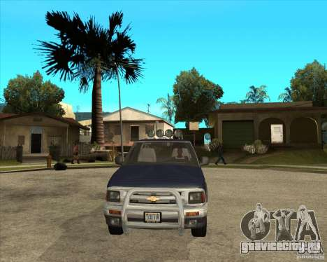 1996 Chevrolet Blazer pickup для GTA San Andreas вид сзади