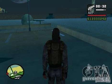 Сталкер наёмник в новом комбезе для GTA San Andreas третий скриншот