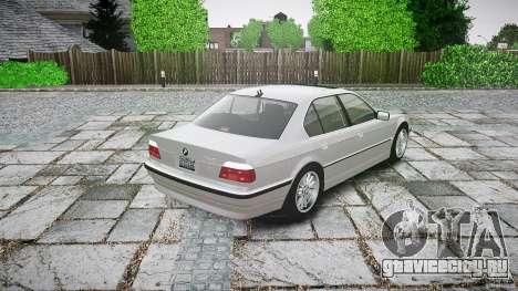 BMW 740i (E38) style 32 для GTA 4 вид сзади слева