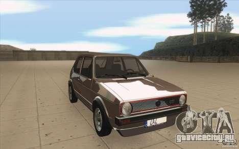 Volkswagen Golf Mk1 - Stock для GTA San Andreas вид сзади