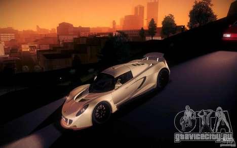 Hennessey Venom GT 2010 V1.0 для GTA San Andreas вид снизу
