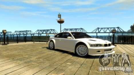 BMW E46 M3 GTR Sport для GTA 4 вид справа