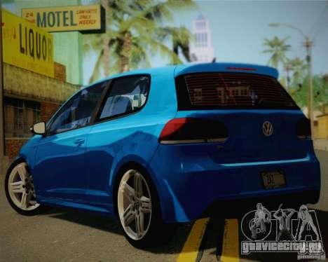 Volkswagen Golf R 2010 для GTA San Andreas вид слева