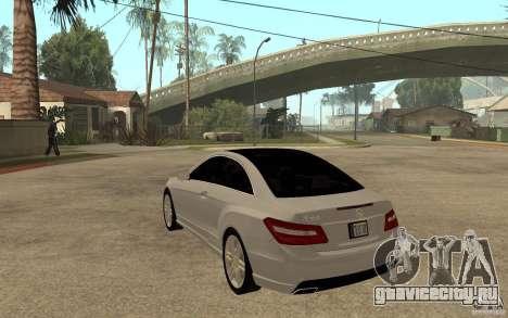 Mercedes Benz E-CLASS Coupe для GTA San Andreas вид сзади слева