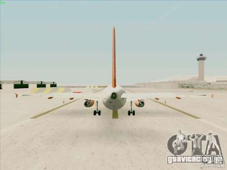 Airbus A319 Easyjet для GTA San Andreas вид справа