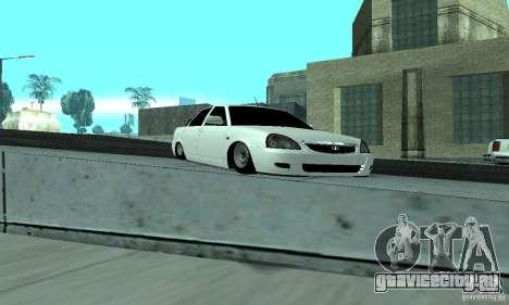 Lada Priora Low для GTA San Andreas вид изнутри