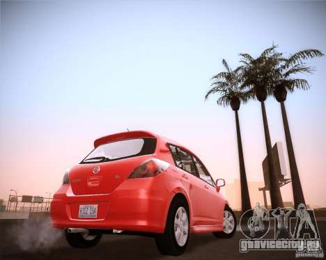 Nissan Versa Stock для GTA San Andreas вид сзади слева