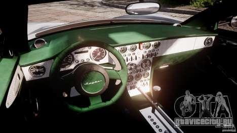 Spyker C8 Aileron v1.0 для GTA 4 вид изнутри