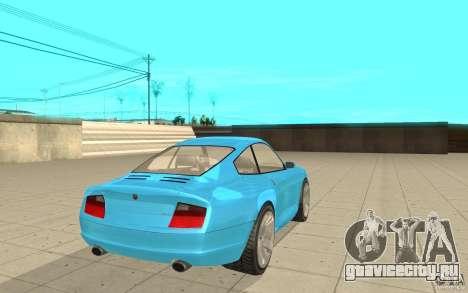 Comet из GTA 4 для GTA San Andreas вид сзади слева