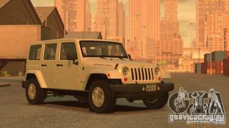 Jeep Wrangler Unlimited Rubicon 2013 для GTA 4