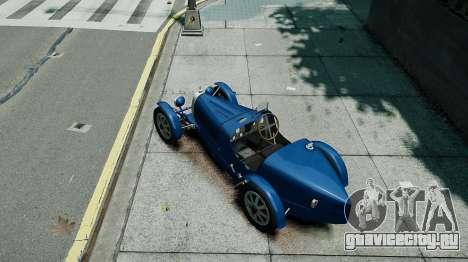 Bugatti Type 35C для GTA 4 вид сзади