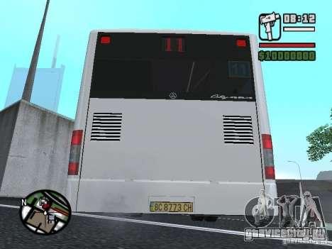 CityLAZ 12 LF для GTA San Andreas вид сзади слева