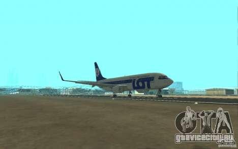 Boeing 737 LOT Polish Airlines для GTA San Andreas вид изнутри