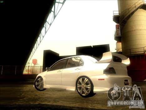 Mitsubishi Lancer Evolution VIII Full Tunable для GTA San Andreas вид сбоку