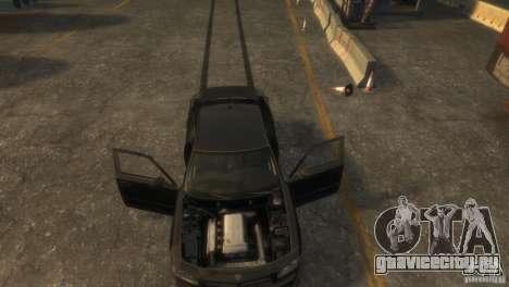 Dodge Charger Fast Five для GTA 4 вид сзади