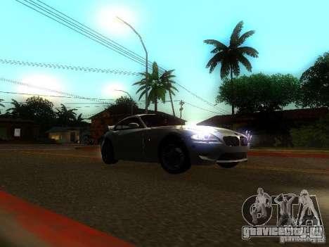 BMW Z4 M 07 для GTA San Andreas вид сзади