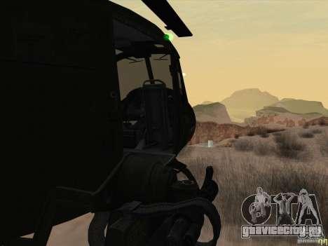 Вертолёт huey из call of duty black ops для GTA San Andreas вид изнутри