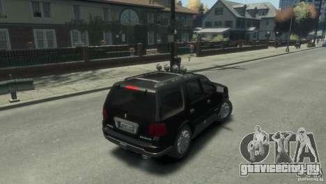 Lincoln Navigator для GTA 4 вид сзади слева