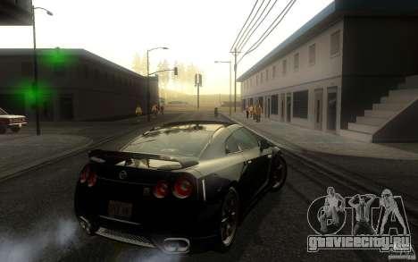 Nissan GTR R35 Spec-V 2010 для GTA San Andreas вид справа